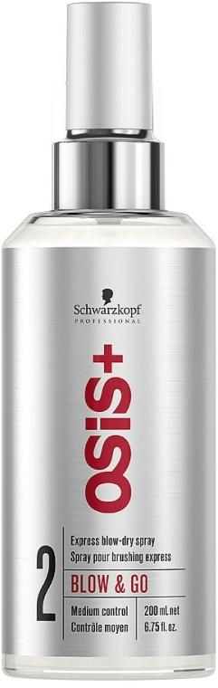 Sprej pro rychlé vysoušení vlasů - Schwarzkopf Professional Osis+ Blow & Go Dry Spray — foto N1
