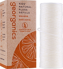 Parfémy, Parfumerie, kosmetika Zubní niť, 2x50 m - Georganics Natural Sweet Orange Dental Floss (náhradní náplň)
