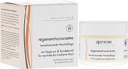 Parfémy, Parfumerie, kosmetika Obnovující noční krém pro normální a suchou plet' - Apeiron Night Regeneration Cream