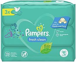 Parfémy, Parfumerie, kosmetika Dětské vlhčené ubrousky Baby Fresh Clean, 3x52 ks - Pampers