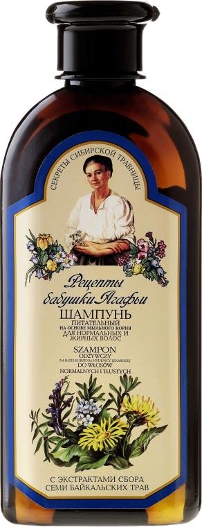 Výživný šampon pro normální a mastné vlasy - Recepty babičky Agafyy