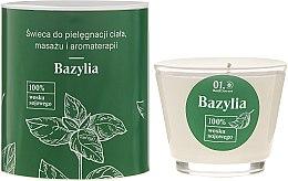 Parfémy, Parfumerie, kosmetika Masážní tělová svíčka - _Element Basil