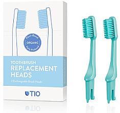 Parfémy, Parfumerie, kosmetika Náhradní hlavice na zubní kartáček, jemná štětina, tyrkysové - TIO Toothbrush Medium
