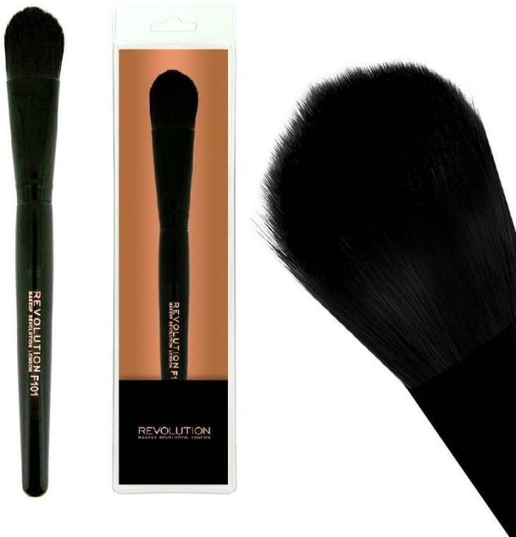 Štětec na make-up, F101 - Makeup Revolution Foundation Brush — foto N1