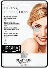 Parfémy, Parfumerie, kosmetika Náplasti pod oči - Iroha Nature Platinum Patches Extra Glowing Eyes