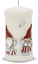 Parfémy, Parfumerie, kosmetika Dekorativní svíčka, bílá, 7x14 cm - Artman Dwarves