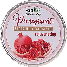 Parfémy, Parfumerie, kosmetika Cukrový pleťový peeling Omlazující granátové jablko - Eco U Sugar Jelly Face Scrub