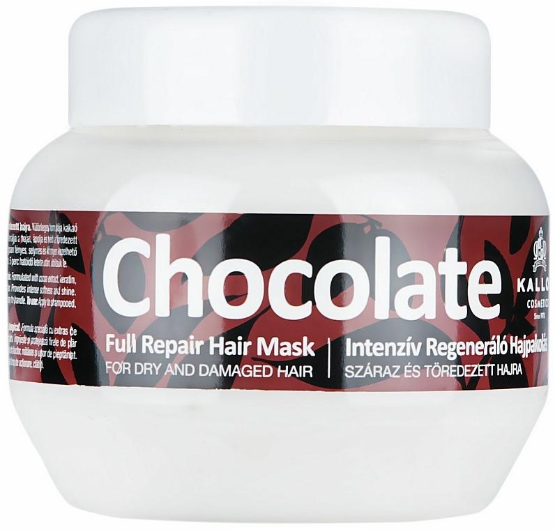 Maska pro suché a poškozené vlasy - Kallos Cosmetics Chocolate Mask