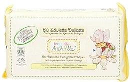 Parfémy, Parfumerie, kosmetika Dětské vlhčené ubrousky, 60ks. - Anthyllis Cleansing Wipes