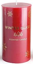 Parfémy, Parfumerie, kosmetika Aromatická svíčka, červená, 7x13 cm - Artman Winter Glass