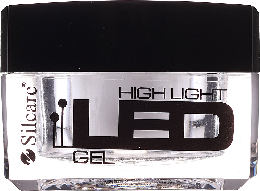 Gel na prodloužení nehtů - Silcare High Light LED Clear