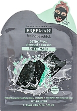 "Parfémy, Parfumerie, kosmetika Maska-detox na obličej ""Uhlí a mořská sůl"" - Freeman Detoxifying Sheet Mask"