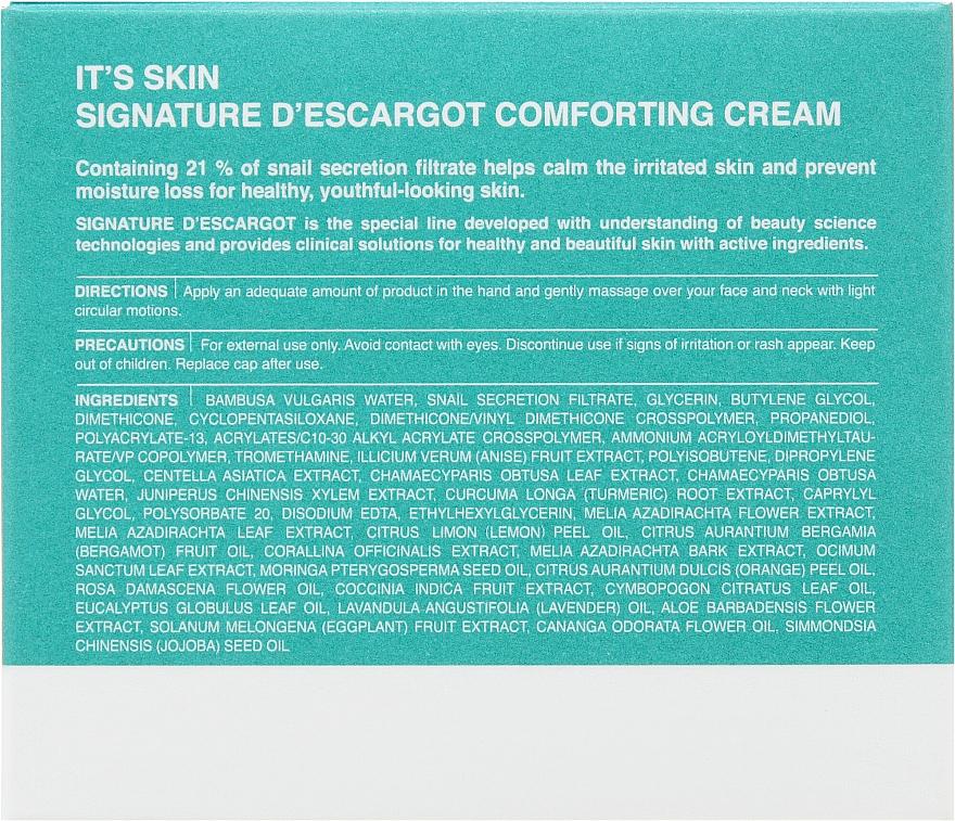Zklidňující krém - It's Skin Signature D'escargot Comforting Cream — foto N3
