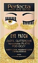 """Parfémy, Parfumerie, kosmetika Náplastíi pod očí """"Zlatý lesk"""" - Perfecta Gold Glitter Eye Patch"""
