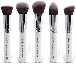 Parfémy, Parfumerie, kosmetika Sada štětců - Nanshy Face Brush Set White (Brush/5ks)
