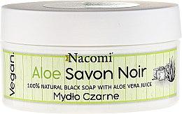Parfémy, Parfumerie, kosmetika Černé mýdlo se šťávou Aloe Vera - Nacomi Savon Noir Natural Black Soap with Aloe Vera Juice
