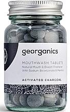 """Parfémy, Parfumerie, kosmetika Tablety na oplachování ústní dutiny """"Aktivované uhlí"""" - Georganics Mouthwash Tablets Activated Charcoal"""