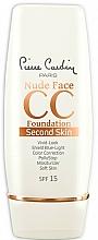 Parfémy, Parfumerie, kosmetika CC-krém - Pierre Cardin Nude Face CC Foundation Second Skin SPF 15