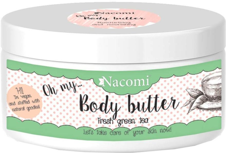 Tělový olej s avokádem a zeleným čajem - Nacomi Body Butter Refreshing Green Tea — foto N1