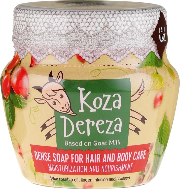 Husté mýdlo na vlasy a tělo hydratáční - Fito Kosmetik Koza Dereza