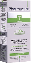 Parfémy, Parfumerie, kosmetika Noční krém-peeling s 10% mandlovou kyselinou - Pharmaceris T Sebo-Almond-Peel Exfoliting Night Cream