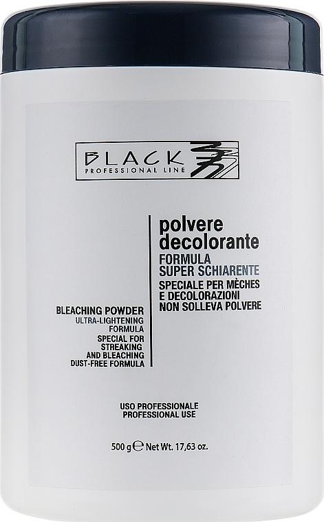 Prášek na zesvětlení vlasů, modrý - Black Professional Line Bleaching Powder Blue