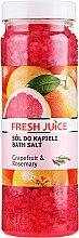 Parfémy, Parfumerie, kosmetika Koupelová sůl - Fresh Juice Grapefruit and Rosemary