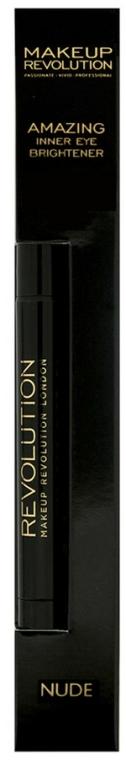 Tužka na oči - Makeup Revolution Amazing Inner Eye Brightener Nude — foto N2