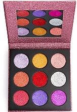 Parfémy, Parfumerie, kosmetika Paletka lisovaných třpytek - Makeup Revolution Pressed Glitter Palette Diva