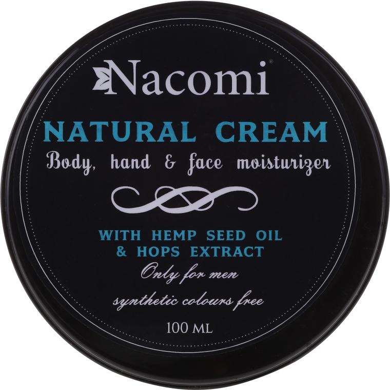 Tělový krém - Nacomi Only For Men Natural Cream — foto N1