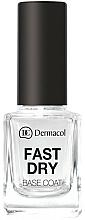 Parfémy, Parfumerie, kosmetika Rychleschnoucí podkladová báze pod lak - Dermacol Fast Dry Base Coat