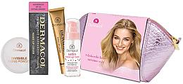 Parfémy, Parfumerie, kosmetika Sada - Dermacol (foundation/30g + makeup/base/30ml + powder/13g + bag)