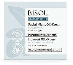 Parfémy, Parfumerie, kosmetika Noční krém Regenerační - Bisou AntiAge Bio Facial Night Oil-Cream