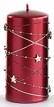 Parfémy, Parfumerie, kosmetika Dekorativní svíčka, bordó, 7x10 cm - Artman Christmas Garland