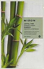 Parfémy, Parfumerie, kosmetika Látková pleťová s extraktem bambusu - Mizon Joyful Time Essence Mask Bamboo