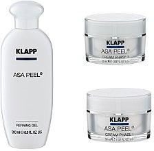 Parfémy, Parfumerie, kosmetika Sada - Klapp ASA Peel Home Cure Pack (gel/200ml + f/cr/30ml + f/cr/30ml)