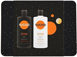 Parfémy, Parfumerie, kosmetika Sada - Syoss Repair Metal Box (shmp/440ml + cond/440ml)