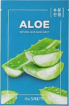 Parfémy, Parfumerie, kosmetika Látková maska Aloe, uvolňující - The Saem Natural Skin Fit Relaxing Mask Sheet Aloe