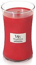 Parfémy, Parfumerie, kosmetika Vonná svíčka ve sklenici - WoodWick Hourglass Candle Crimson Berries