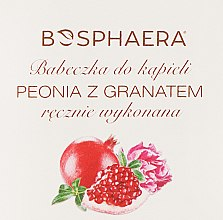 Parfémy, Parfumerie, kosmetika Koupelová bomba Pivoňka s granátovým jablkem - Bosphaera