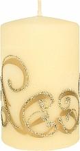 Parfémy, Parfumerie, kosmetika Dekorativní svíčka, krémová s ornamentem, 7x10 cm - Artman Christmas Ornament
