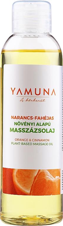 Masážní olej Pomeranč a skořice - Yamuna Orange-Cinnamon Plant Based Massage Oil