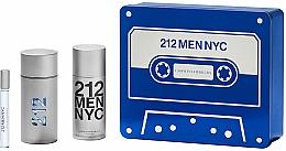 Parfémy, Parfumerie, kosmetika Carolina Herrera 212 Men NYC - Sada (edt/100ml + deo/150ml + edt/10ml)