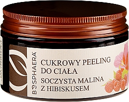 Parfémy, Parfumerie, kosmetika Cukrový tělový peeling Šťavnatá malina s ibiškem - Bosphaera