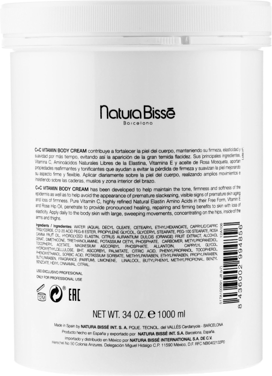 Krém s vitamíny pro tělo - Natura Bisse C+C Vitamin Body Cream — foto N5