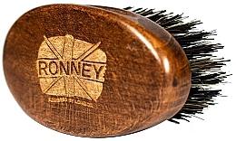 Parfémy, Parfumerie, kosmetika Dřevěný kartáč na vousy s přírodními štětinami, tmavý - Ronney Professional Barber Small Brush