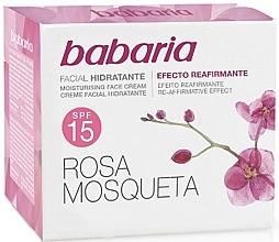 Parfémy, Parfumerie, kosmetika Hydratační pleťový krém s šípkem SPF 15 - Babaria Face Cream With Rose Hip SPF15