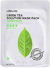 Parfémy, Parfumerie, kosmetika Látková pleťová maska - Lebelage Green Tea Solution Mask