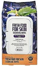 Parfémy, Parfumerie, kosmetika Čisticí pleťové ubrousky Hrozny - Superfood For Skin Fresh Food Facial Cleansing Wipes