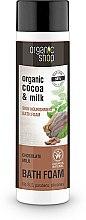 """Parfémy, Parfumerie, kosmetika Pěna do koupele """"Výživa pleti. Čokoládové mléko"""" - Organic Shop Organic Cacao and Milk Milky Bath Foam"""
